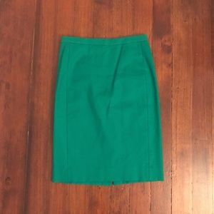 J. Crew Skirts - J. Crew No. 2 Pencil Skirt in Green